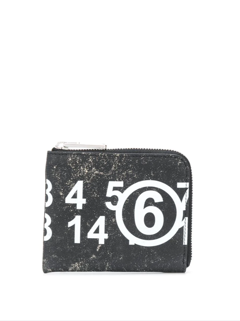 VINTAGE LEATHER LOGO PRINT WALLET