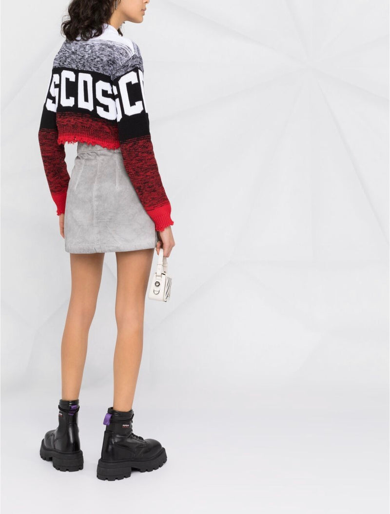 RED LOGO DEGRADE' SWEATER