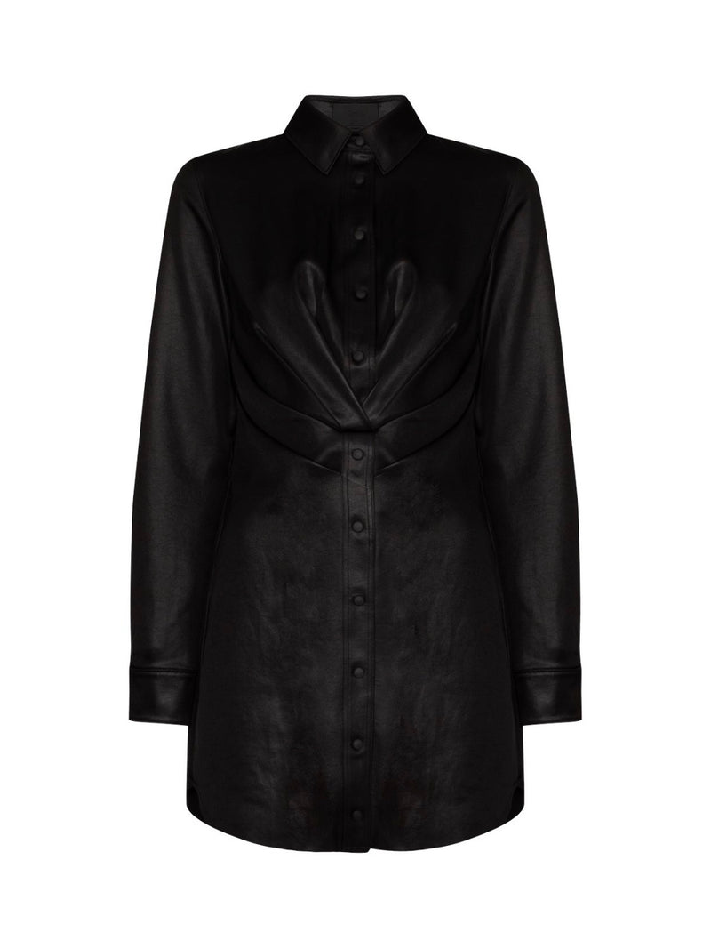 BLACK VIVIENNE TWISTED SHIRT DRESS