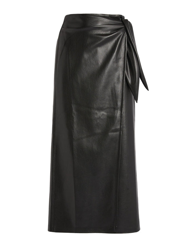 AMAS VEGAN LEATHER SARONG SKIRT