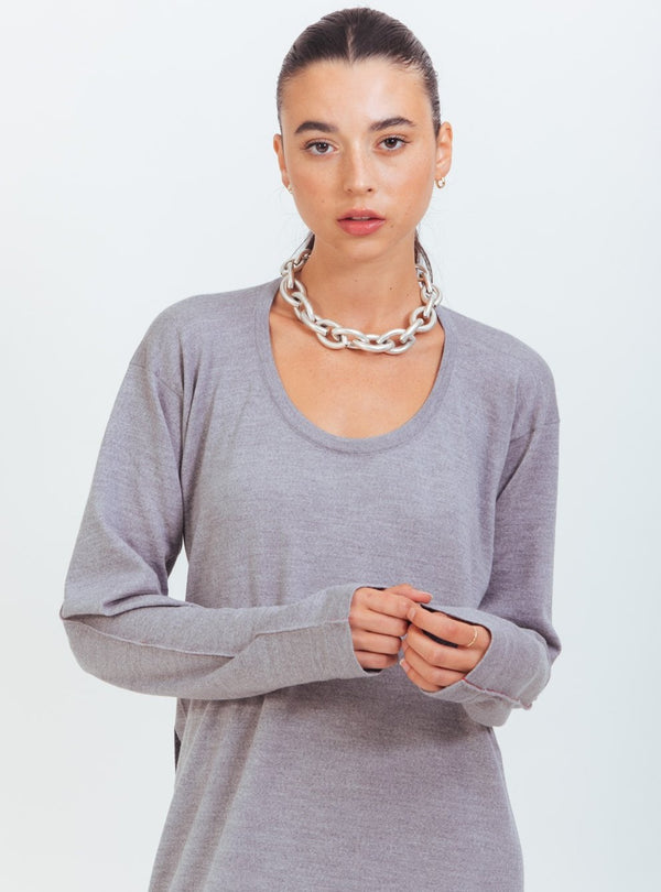 GREY WEAR TWO WAY KNIT DRESS