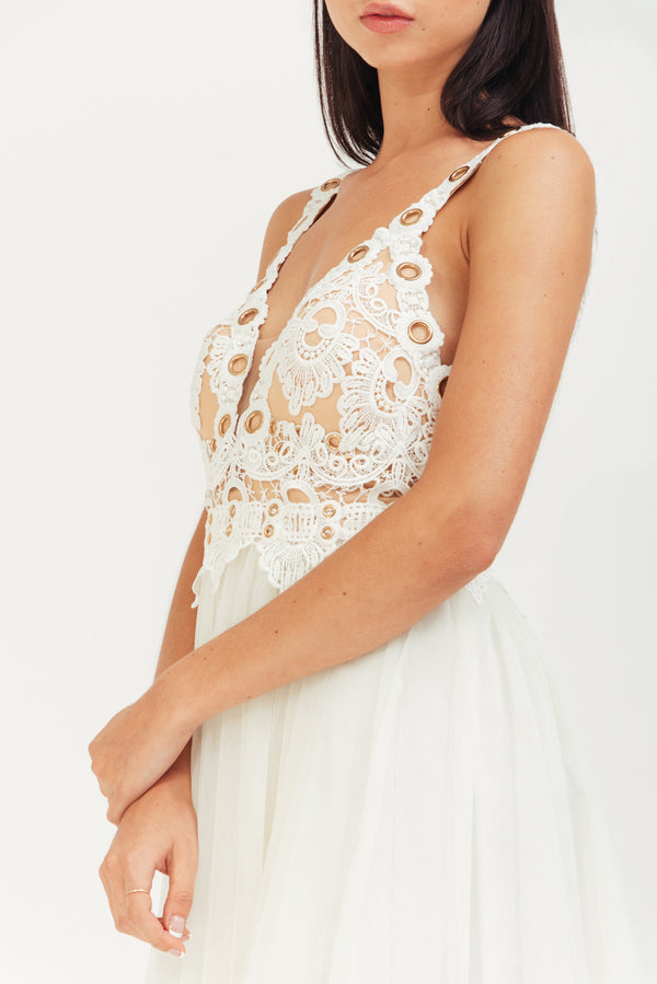 MIDI ALINE TULLE DRESS