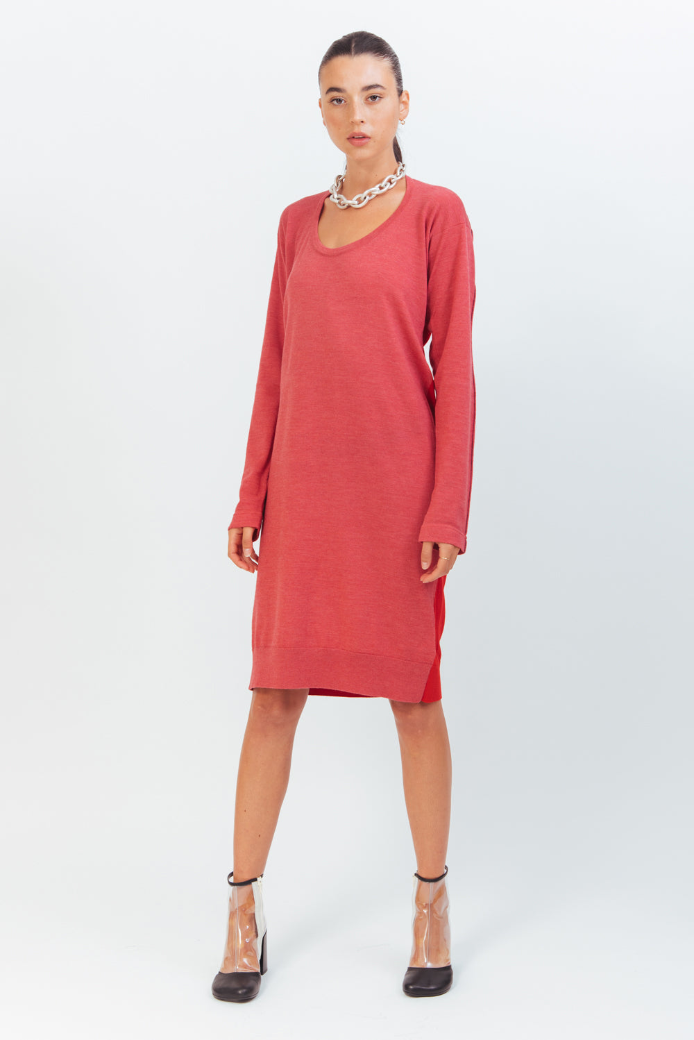 RED WEAR TWO WAY KNIT DRESS
