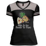 Pineapple Pizza Varsity V-Neck T-Shirt