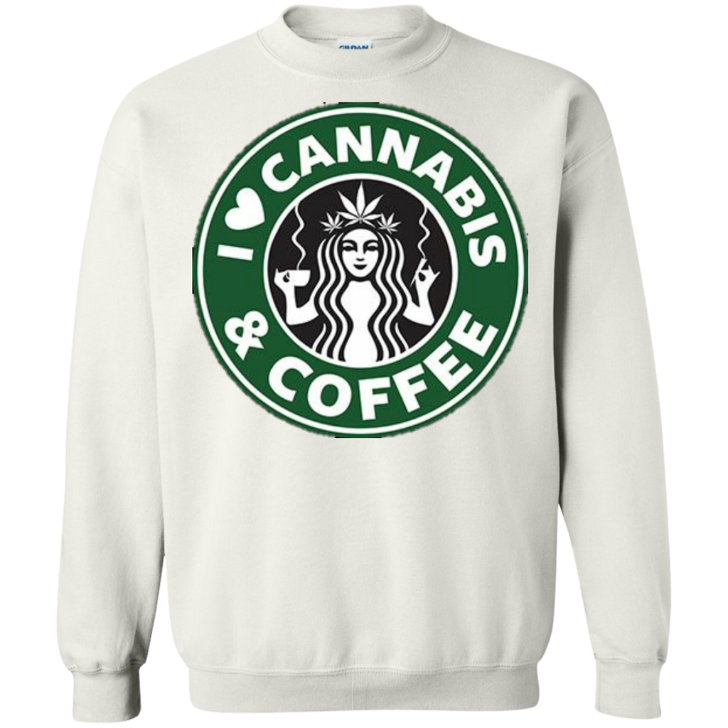 Cannabis & Coffee Crewneck Pullover Sweatshirt