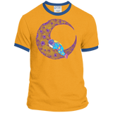 Peaceful Moon Ringer Tee