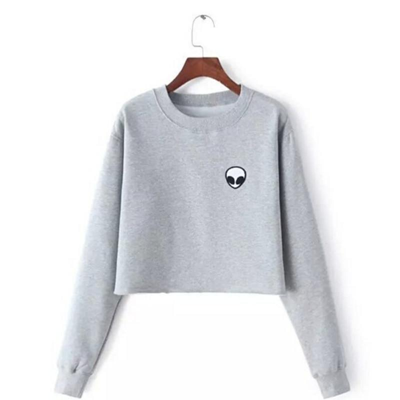 Alien Crop Top Sweatshirt