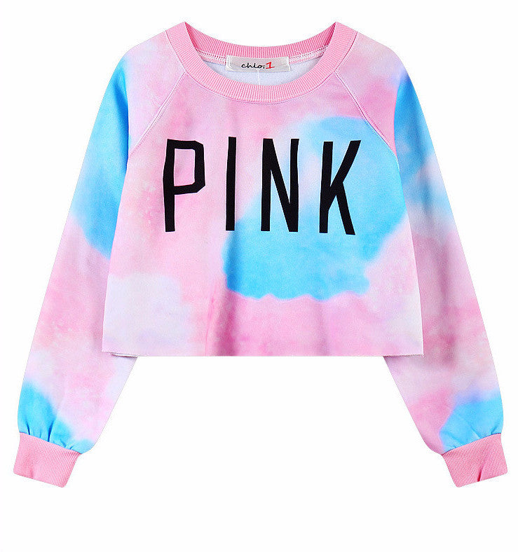Pink Cotton Candy Crop Top