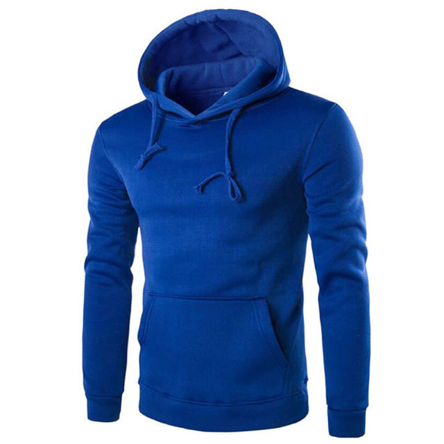 Straight Hoodie Simple Slim Fit