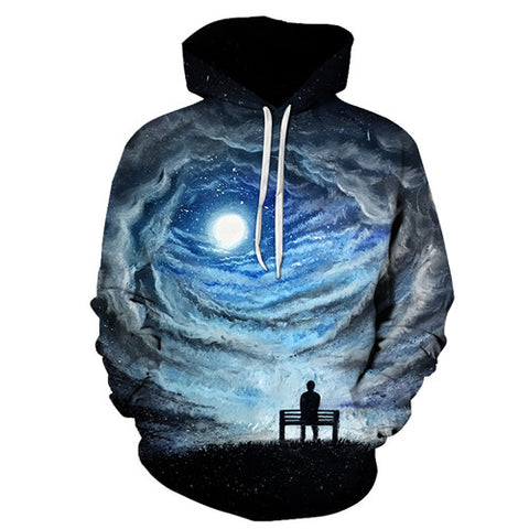 Midnight Moon Galaxy Hoodie