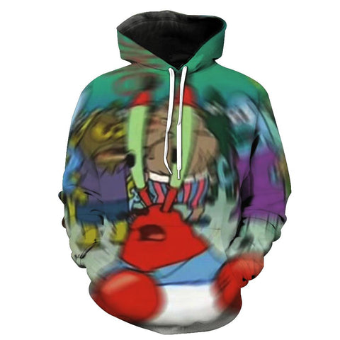 Confused Mr Krabs Meme Hoodie