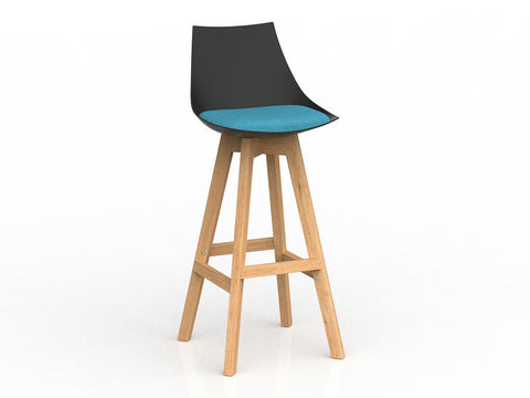 Luna Barstool with Oak Base