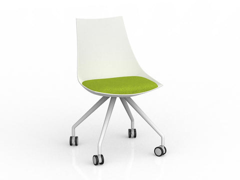 Luna Chair with Castor Base