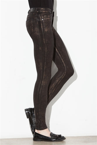 Raven Skinny Pants in Metallic Serpent