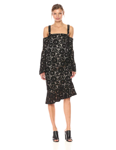 Marseille Lace Dress in Black