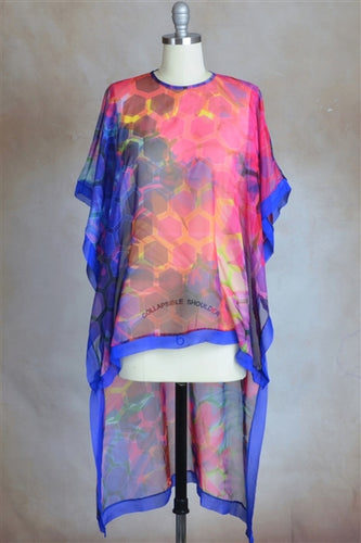 Karla Honeycomb Print High Low Kaftan