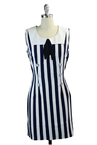 Sally's Sailor Nautical Shift Dress in Navy