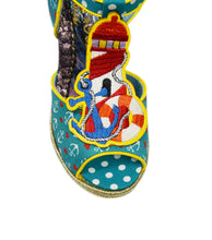 Round The Twist Sailor-Themed Wedge Platform Sandals