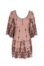 Let The Night Roll Sheer Mesh Mini Dress in Mocha