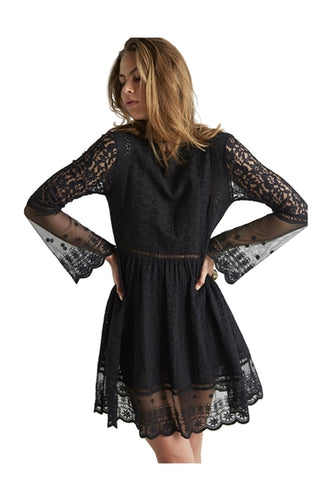 Crystal Visions Lace Dress in Black