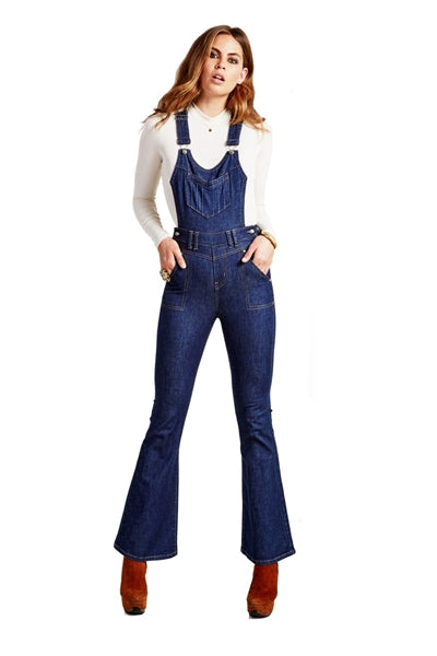 Orion Demim Flare Overalls