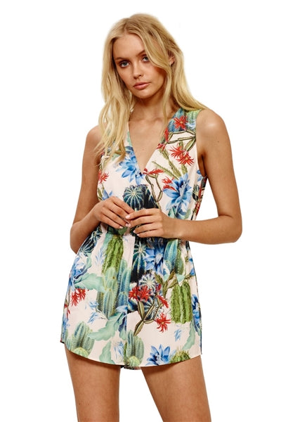 Such A Prick Printed Playsuit Romper