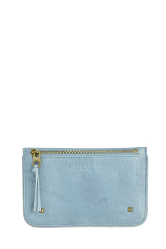 Kiwi Double Dyed Pouch in Light Blue
