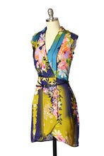 Tatum Asian-Inspired Floral V-Neck Dress