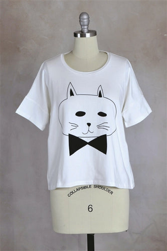 Gatto Graphic Crop Tee
