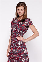 Floral Printed origami Pleats Tea Dress