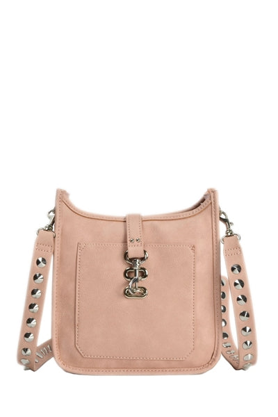 Bwylie Stud Strap Mini Crossbody Bag in Blush