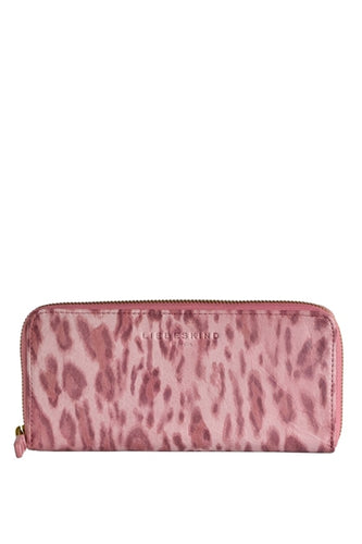 Lesley Leo Leather Zip Wallet in Powder