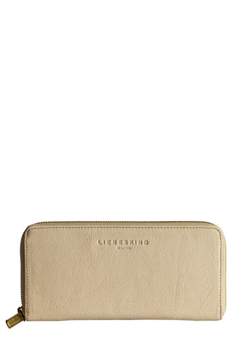 Lesley Luxury Leather Zip Wallet in Powder Rose