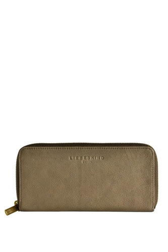 Lesley Luxury Leather Zip Wallet in Silt