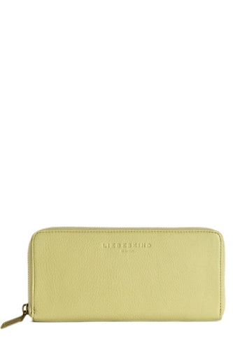 Lesley Luxury Leather Zip Wallet in Perlmutt