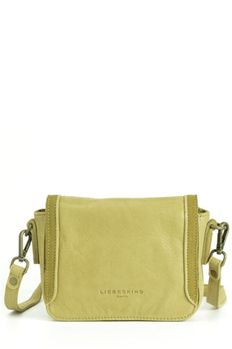 Licia Silky Coated Leather Mini Crossbody Bag in Mustard