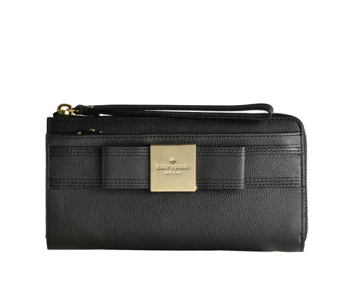Primrose Hill Layton Leather Wristlet Black