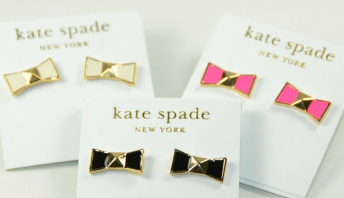 Locked In Bow Stud Earrings