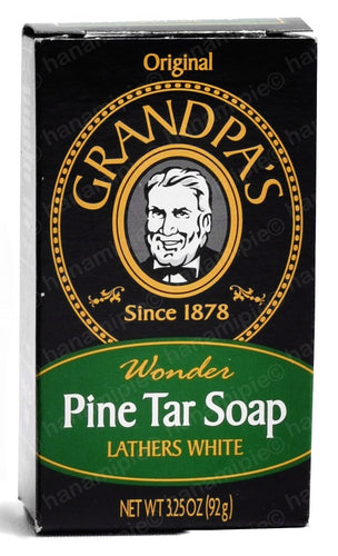 Pine Tar Soap - The Original Wonder Soap 3.25oz 92g Bar