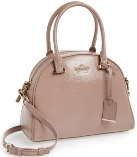 Cedar Street Pearl Patent Leather Small Crossbody Bag