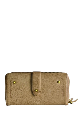 Senta Double Dyed Leather Wallet in Caramel