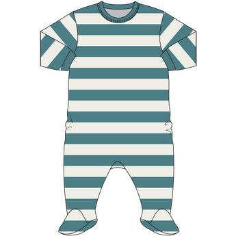 Coccoli Striped Teal Footie