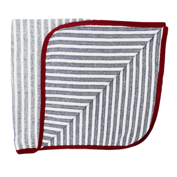 Coccoli Striped Denim/Cream Blanket