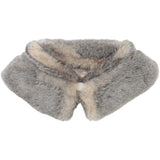 Carrement Grey/Pink Girls Faux Fur Collar