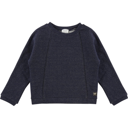 Carrement Navy Girls Lurex Sweater
