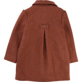 Carrement Caramel Girls Classic Wool Lurex Coat