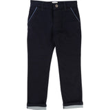 Carrement Denim Blue Fleece Pants With Piped Pockets