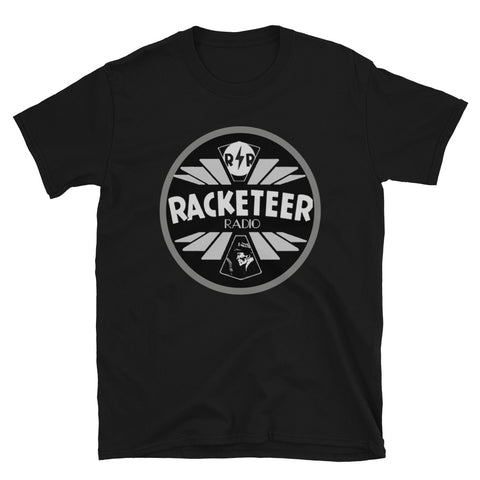 Silver Racketeer Radio Short-Sleeve Unisex T-Shirt - The Hartmann Company