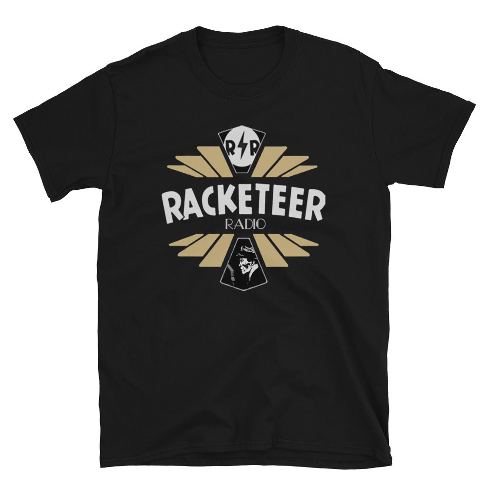 Gold Racketeer Radio Logo Short-Sleeve Unisex T-Shirt - The Hartmann Company