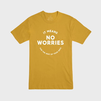 NO WORRIES | Tee | Yellow